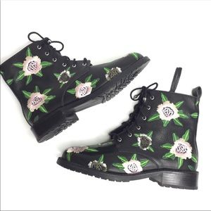 Rebecca Minkoff Gerry Embroidered combat Boots.